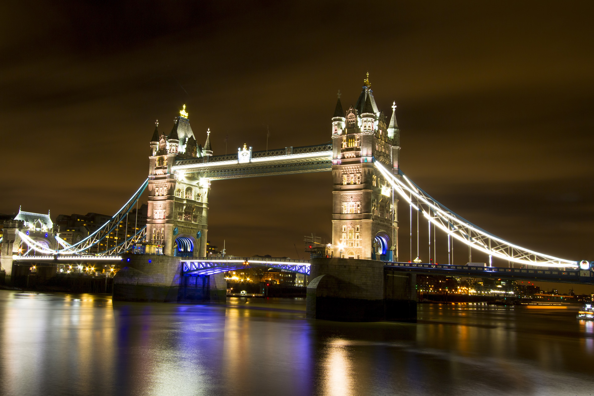 Tower bridge , Thames river, London.