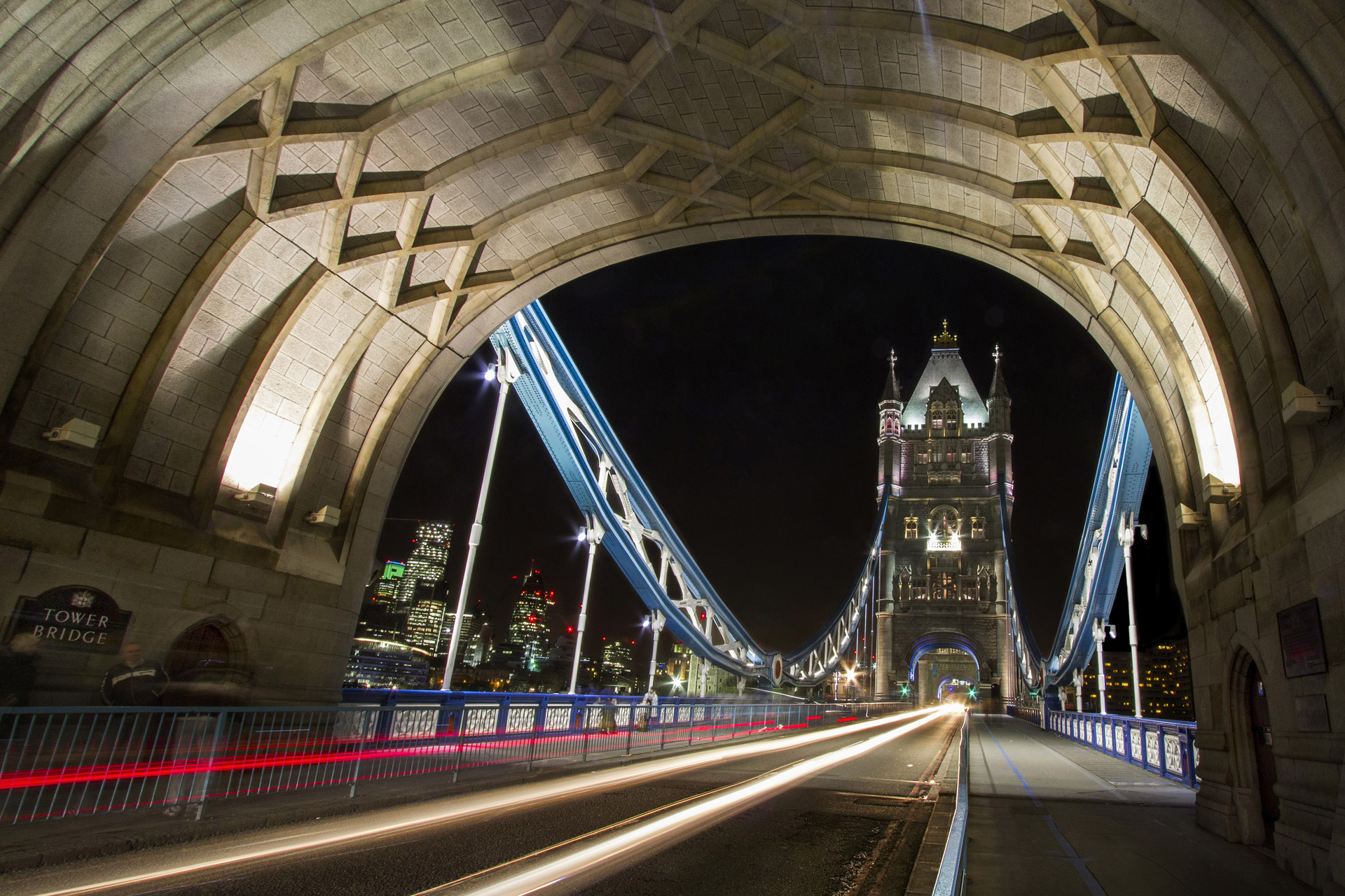 Tower Bridge at night, London, UK.